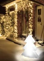 LED-es dekorációs figura, fenyőfa, 9V, 63 x 51 cm, fehér, Polarlite (001460524) Polarlite