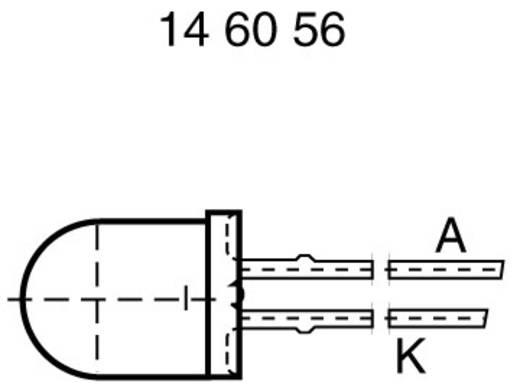 LED kivezetéssel Piros Kerek 10 mm 100 mcd 60 ° 20 mA 2 V