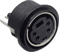 Beépíthető mini DIN aljzat, függőleges, pólusszám: 8 fekete BKL Electronic 0204033 BKL Electronic