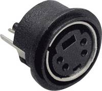 Beépíthető mini DIN aljzat, függőleges, pólusszám: 6 fekete BKL Electronic 0204032 BKL Electronic