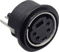 Beépíthető mini DIN aljzat, függőleges, pólusszám: 4 fekete BKL Electronic 0204030 BKL Electronic