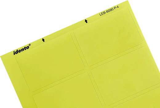 Kábeljelölő lézer etikett címke, 8 db matt sárga színű TE Connectivity 4-1768034-6 LEB-6090P-4