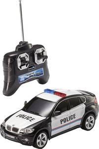 RC távirányítós modellautó, 1:24 méretű rendőrautó, fekete - fehér Revell Control 24655 BMW X6 Police Revell Control