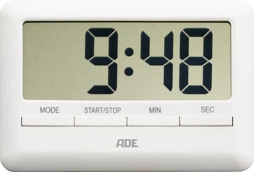 Digitális konyhai időzítő, visszaszámláló óra, 101x70x11 mm, fehér, ADE TD 1600