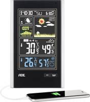Vezeték nélküli időjárásjelző állomás színes kijelzővel, fekete, ADE WS 1600 ADE