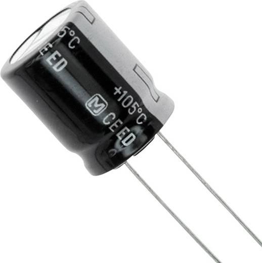 Elektrolit kondenzátor Radiális kivezetéssel 7.5 mm 82 µF 200 V 20 % (Ø x H) 16 mm x 7.3 mm Panasonic EEU-ED2D820S 1 db