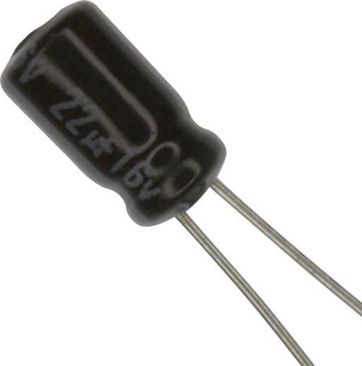 Elektrolit kondenzátor Radiális kivezetéssel 1.5 mm 22 µF 16 V 20 % (Ø) 4 mm Panasonic ECE-A1CKA220 1 db