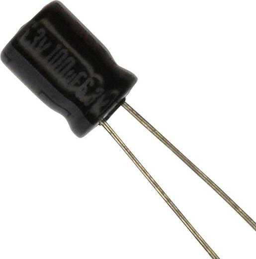 Elektrolit kondenzátor Radiális kivezetéssel 2 mm 100 µF 6.3 V 20 % (Ø) 5 mm Panasonic ECE-A0JKA101 1 db