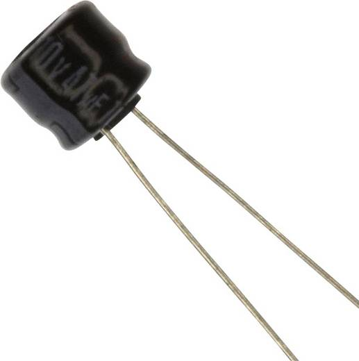 Elektrolit kondenzátor Radiális kivezetéssel 2.5 mm 47 µF 10 V 20 % (Ø) 6.3 mm Panasonic ECE-A1AKS470 1 db