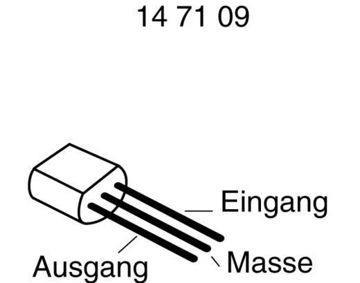 Fix feszültségű szabályozó 0,1 A, pozitív 78 L 08 Ház típus TO 92 Kimeneti feszültség 8 V I(out) 100 mA