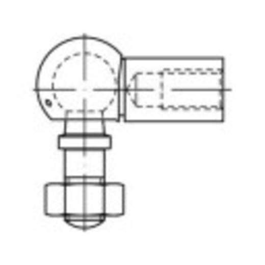 Gömbcsuklók DIN 71802 Acél, galvanikusan horganyozott 25 db TOOLCRAFT 147229