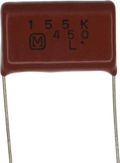 Fóliakondenzátor Radiális kivezetéssel 1.5 µF 450 V/DC 10 % 22.5 mm (H x Sz) 25.7 mm x 8.2 mm Panasonic ECQ-E2W155KH 1 db