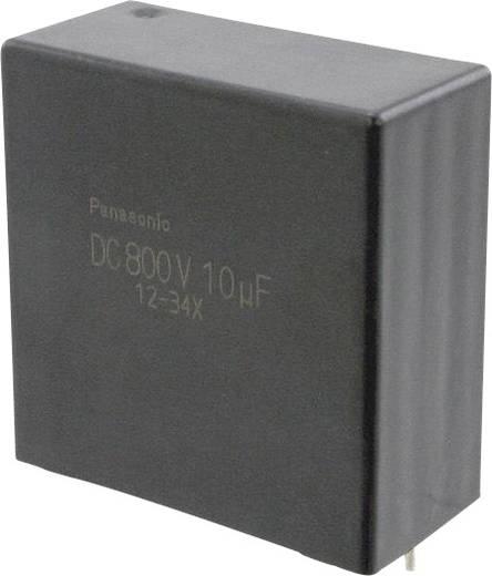 Fóliakondenzátor Radiális kivezetéssel 10 µF 800 V/DC 10 % 37.5 mm (H x Sz) 41.5 mm x 20 mm Panasonic EZP-E80106LTA 1 db