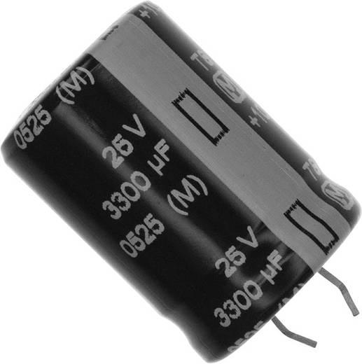 Elektrolit kondenzátor Snap-In 10 mm 3300 µF 25 V 20 % (Ø) 22 mm Panasonic ECE-S1EG332E 1 db