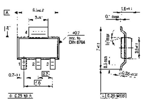 SMD tranzisztor BSP 50 SOT-223