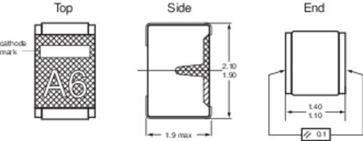 Zener dióda C8,2V ZB Ház típus (félvezető) SOD-110 NXP Semi