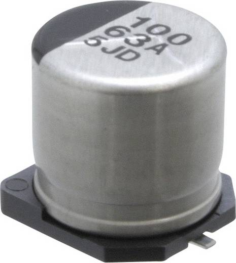 Elektrolit kondenzátor SMD 100 µF 63 V 20 % (Ø) 10 mm Panasonic ECE-V1JA101P 1 db