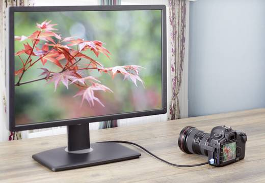 HDMI csatlakozókábel LED-del, 1x HDMI dugó - 1x HDMI dugó mini C, 5 m, fekete, SpeaKa Professional