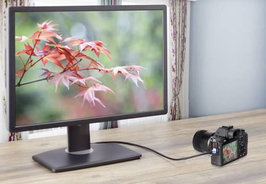 HDMI csatlakozókábel LED-del, 1x HDMI dugó - 1x HDMI dugó mikro D, 1 m, fekete, SpeaKa Professional
