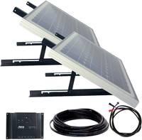 Napelemes rendszer szerelési anyagokkal, 2x 30 W 12 V, Phaesun 600301 Solar Up Four Phaesun