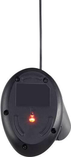 USB-s optikai egér, ergonómikus, fekete, renkforce ST-OPM890