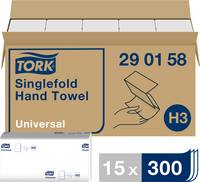 TORK 290158 Zickzack Universal Papír kéztörlők (H x Sz) 23 cm x 23 cm Magasfehér 15 x 300 lap/csom. 4500 db TORK