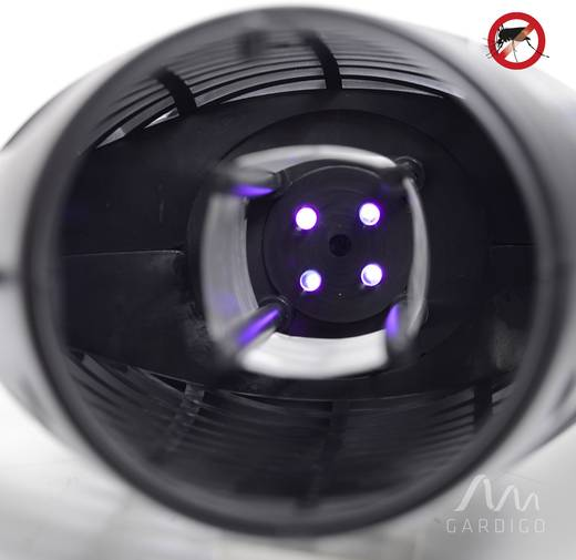 UV LED-es rovarcsapda 150 x 230 x 105 mm, fekete, Gardigo