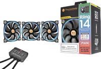 Számítógépház ventilátor Thermaltake Riing 14 LED RGB - 3er Set (Sz x Ma x Mé) 140 x 140 x 25 mm (CL-F043-PL14SW-B) Thermaltake