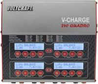Multifunkciós modell akkutöltő, 12/230V 12A LiPo/LiFePO/LiIon/LiHV/NiCd/NiMH/Ólom, VOLTCRAFT V-Charge 240 Quadro VOLTCRAFT