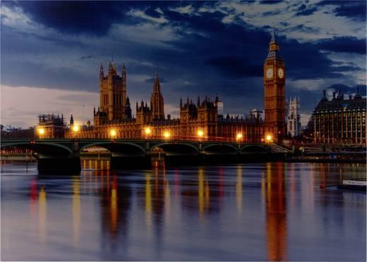 LED-es dekorációs falikép London Big Ben Heitronic 34190 Bunt