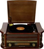 Asztali retro rádió, USB-s retro lemezjátszó, MP3 CD lejátszóval, magnókazetta digitalizálóval Denver MCR-50 (MCR-50) Denver