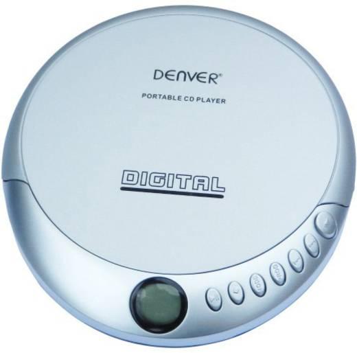 Discman, hordozható CD, lejátszó, CD, CD-R, CD-RW, ezüst színű Denver DM-25