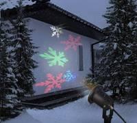 Kültéri leszúrható LED lámpa, karácsonyi dekorfény, hópehely forma Polarlite 1493203 (8623C73) Polarlite