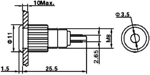 LED-es jelzőlámpa, vandálbiztos piros 12 V GQ8F-D/R/12V/N