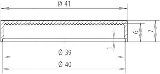 Sapka reflektorhoz Ø 40 mm, piros, Mentor 2510.0200