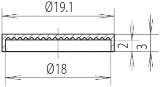 Sapka reflektorhoz Ø 18 mm, piros, Mentor 2451.0200