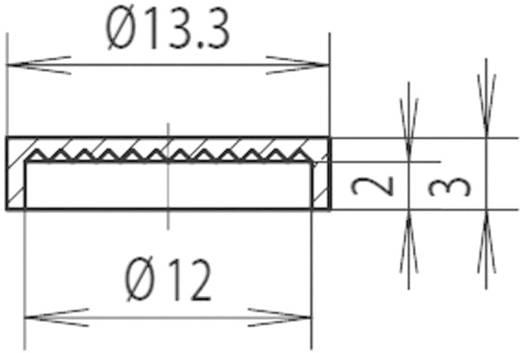Sapka reflektorhoz Ø 12 mm, piros, Mentor 2450.0200