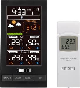Időjárás állomás, meteorológiai állomás, rádióvezérelt DCF órával Eurochron EFWS S250 Eurochron