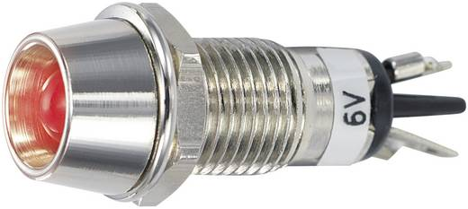 LED-es jelzőlámpa 6 V/DC, Ø 5 mm, piros, SCI R9-115L