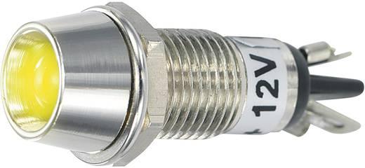 LED-es jelzőlámpa 12 V/DC, Ø 5 mm, sárga, SCI R9-115L
