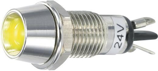 LED-es jelzőlámpa 24 V/DC, Ø 5 mm, sárga, SCI R9-115L