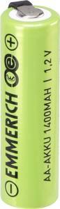 Forrasztható ceruza akku AA NiMH 1,2V 1400 mAh, forrfüles, Emmerich ULF (1497076) Emmerich