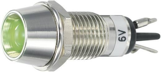 LED-es jelzőlámpa 6 V/DC, Ø 5 mm, zöld, SCI R9-115L