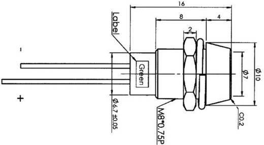 Jelzőlámpa LED 5 mm zöld 450 mcd