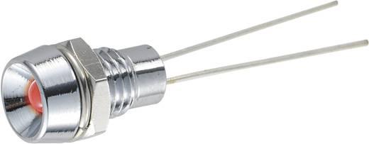 Jelzőlámpa 3 mm LED sárga 40 mcd