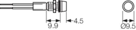 LED-es jelzőlámpa 230 V/AC, IP67, piros, Arcolectric L1041OSMAA