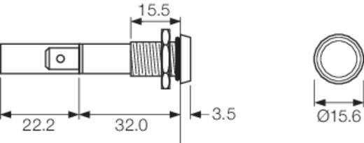 LED-es jelzőlámpa 230 V/AC, IP67, piros, Arcolectric L0275OSMAC