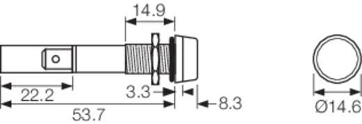 LED-es jelzőlámpa 12 V/DC, IP67, piros, Arcolectric L0277OSLAA