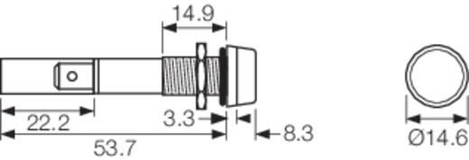 LED-es jelzőlámpa 24 V/DC, IP67, piros, Arcolectric L0277OSLAD