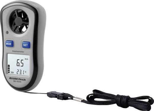 Szélmérő, légsebességmérő anemométer, hőmérő funkcióval 0,1 - 30 m/s-ig Basetech BS-10AN